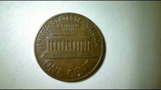 1959 D ERROR Lincoln one cent CUD in the c on reverse