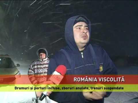 Iarnă grea în România