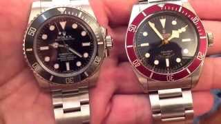 Rolex submariner and Tudor black bay ,Just no date
