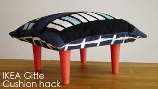 Legheads IKEA hack - Gitte DIY Kids cushion stools with furniture legs