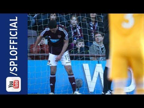 Dylan McGowan Own Goal, Hearts 1-2 Motherwell, 02/03/2013