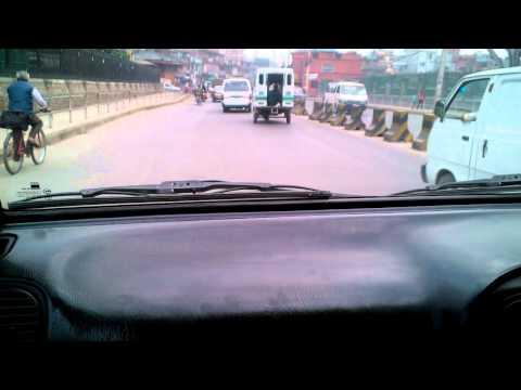 Driving in Nepal Kathmandu