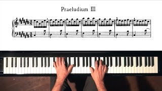 Bach Prelude and Fugue No.3 Well Tempered Clavier, Book 1 with Harmonic Pedal