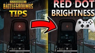 PUBG Tips: How to Change the Red Dot Brightness on ANY Sight