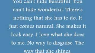Aaron Lines-You Can't Hide Beautiful With Lyrics