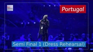 Portugal Eurovision 2017 - Amar Pelos Dois (Semi Final 1 Dress Rehearsal, Live in 4K)