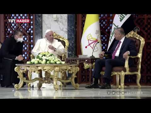 Papa Francis'e Bağdat'ta coşkulu karşılama