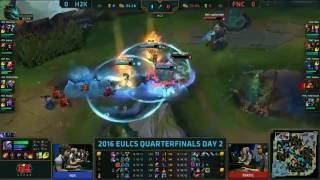 1#FIRST BLOOD KING JANKOS . FNATIC VS H2K EU LCS 2016 SUMMER
