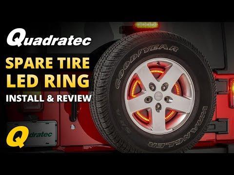 Quadratec Spare Tire LED Brake Light Ring Install & Review for 2007-2018 Jeep Wrangler JK