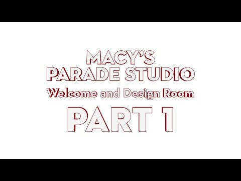 Macy's Parade Studio Tour (Part 1): The Design Room