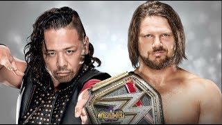 AJ Styles vs Shinsuke Nakamura Wrestlemania 34 Promo HD