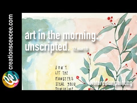 don't let them steal your sunshine: real-time watercolor painting