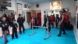 Crazy Intense High Jump Challenge for Brave Kung Fu Kids!
