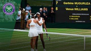 Garbiñe Muguruza v Venus Williams highlights - Wimbledon 2017 ladies' singles final