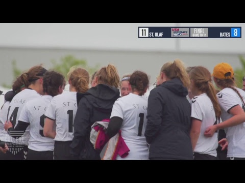 Video Thumbnail: 2018 D-III College Championships, Women's Final: St. Olaf vs. Bates