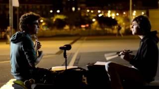 Salvador Sobral a cantar nas ruas de Barcelona - 2012