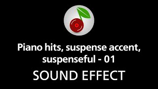 🎧 Piano hits suspense accent suspenseful - 01 SOUND EFFECT