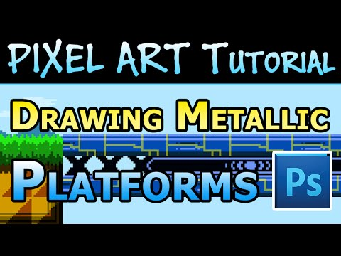 Pixel Art Tutorial - How to make Metallic Platform Tiles in Photoshop