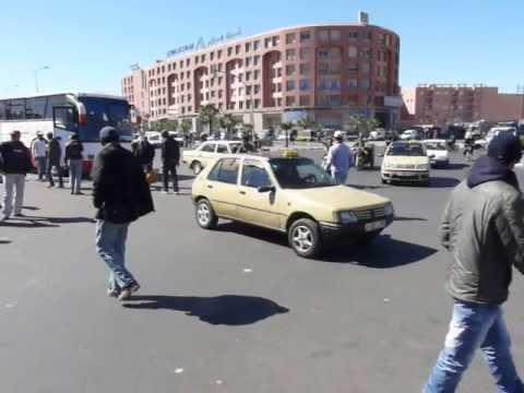 Трафик в Маракеш / Road Traffic in Marrakech