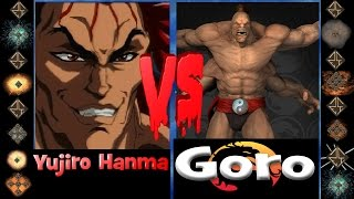 Yujiro Hanma  (Baki the Grappler) vs Goro (Mortal Kombat) - Ultimate Mugen Fight 2015