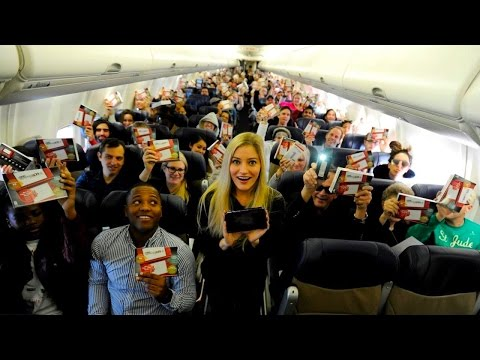 iJustine Joins Southwest Airlines and Nintendo to Surprise a Flight with the New Nintendo 3DS!