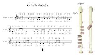 Flauta de Bisel (ou flauta doce) - O Balão do João