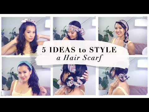 5 SUMMER HAIRSTYLES w/ a HAIR SCARF | ANN LE