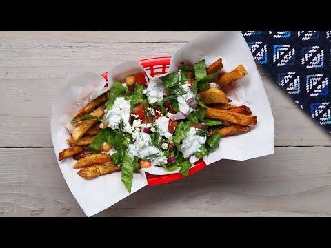 Loaded Mediterranean French Fry Salad ? Tasty