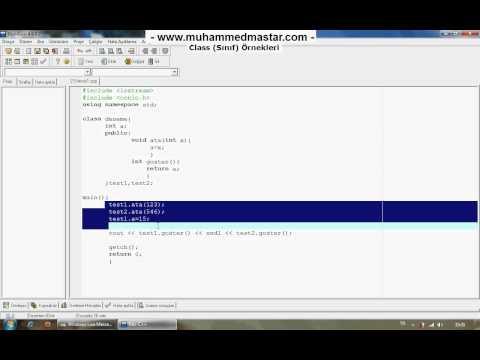 C++ Dersleri 24 - 1.Kısım otobüs sefer saatleri otobus.org