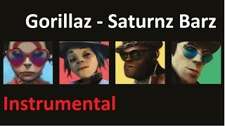 "Gorillaz - ""Saturnz barz"" Instrumental (with lyrics on CC)
