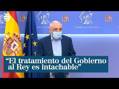 """El PSOE considera que el tratamiento del Gobierno al Rey es """"absolutamente intachable"""""""