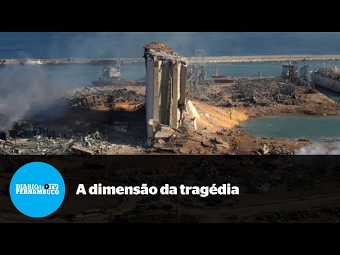 Beirute e a tragédia vista de cima