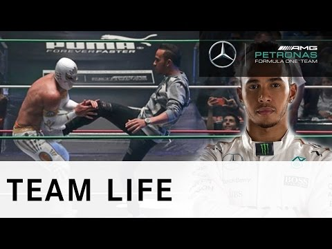 Lucha Libre smackdown with Lewis Hamilton!