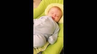 Baby not happy being woken up