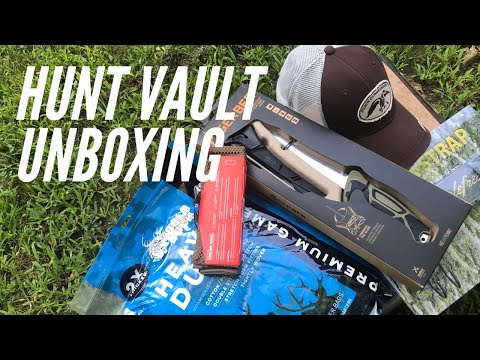 Hunt Vault UNBOXING: Fishing Knife, New Hat, Headlamp, Gear Hanger, and More