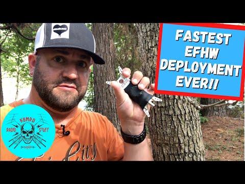 Easiest EFHW Antenna Deployment Ever