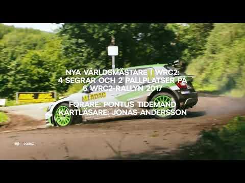 ŠKODA Motorsport, Tidemand och Andersson världsmästare WRC2 2017