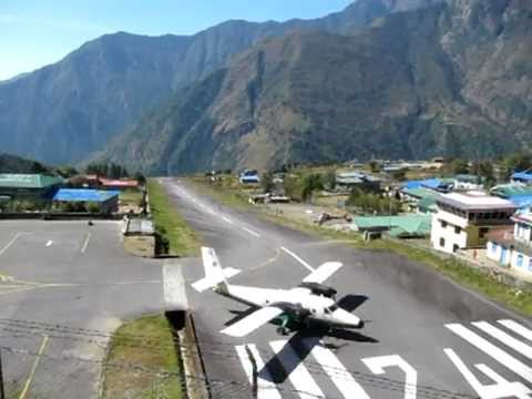 Flying out of Lukla