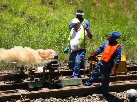 Thermite Welding a Rail Line