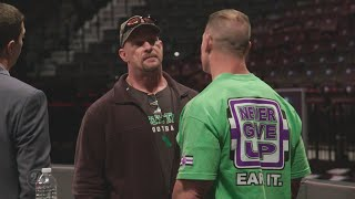 "Go backstage at Raw's 25th anniversary with ""Stone Cold"" Steve Austin on WWE 24"