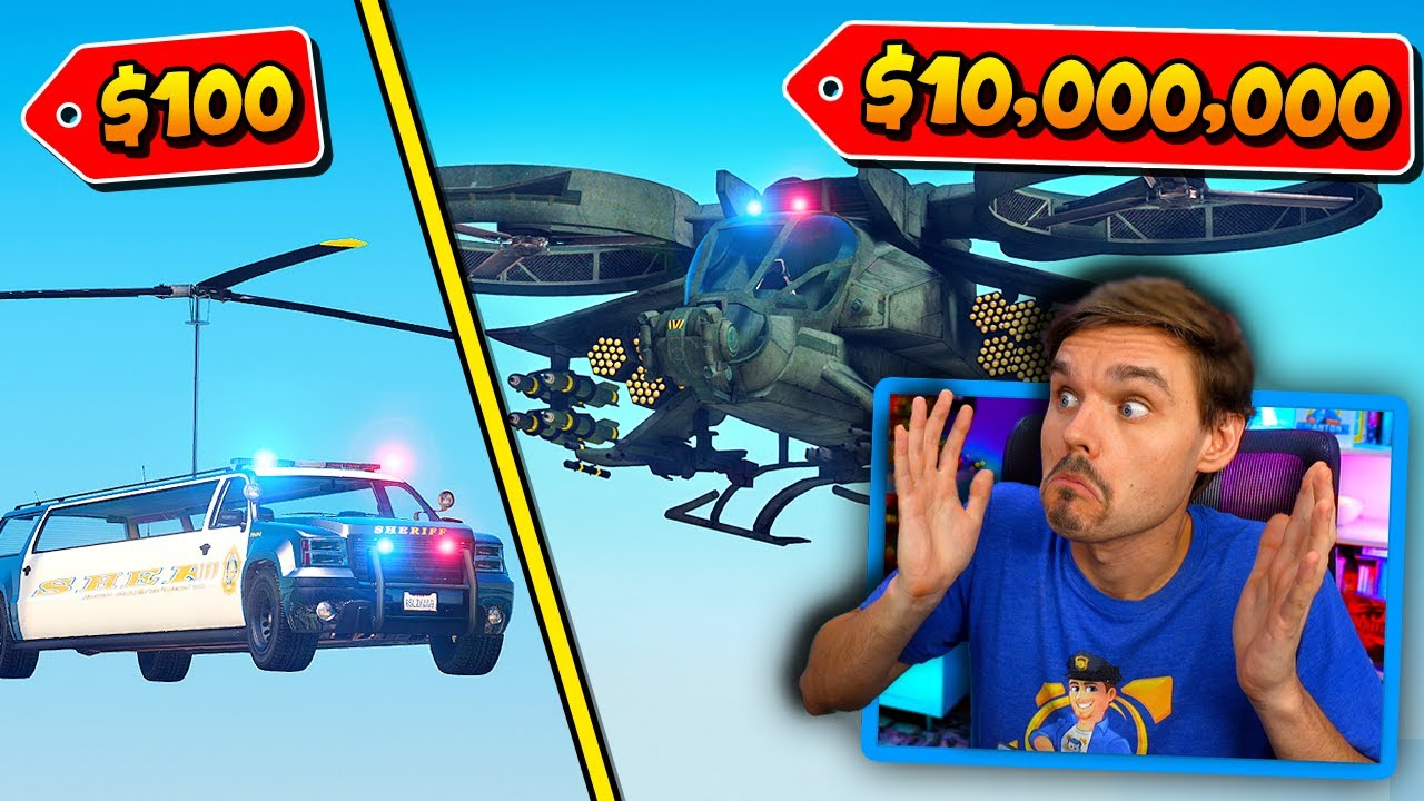GMAntonZ - In GTA 5... CHEAPEST vs Most EXPENSIVE police helicopter! (LSPDFR Police Mod) #LSPDFR