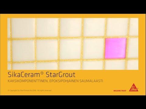 SikaCeram StarGrout - hygieninen saumalaasti laatoitukselle