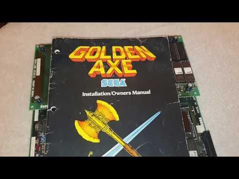 Golden Axe Arcade Pcb Original Sega System 16