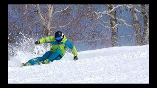NEW Volkl Racetiger SL Demo skiing Reilly McGlashan