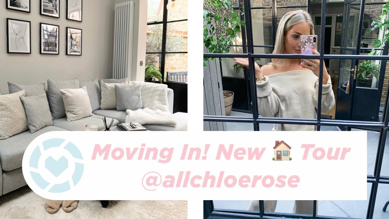 Moving To London! New House Tour | Modern Grey + Silver Interiors Ideas | All Chloe Rose