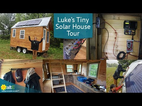 We traveled up to Bethel, Maine, USA to visit high schooler Luke and his father and grandfather. Together, they built an off-grid solar tiny house, and gave us a tour of the house and the solar system.