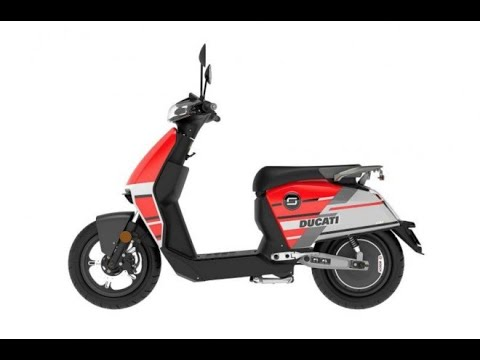 Super Soco CUx Ducati Special Edition 1300w 28mph Electric Moped Static Review - Green-Mopeds.com