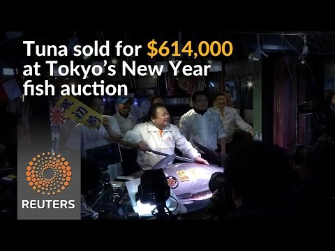 Tuna fetches over $600,000 at Tokyo's famed New Year fish auction