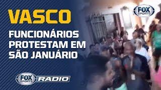 Funcionários do Vasco protestam contra salários atrasados em São Januário