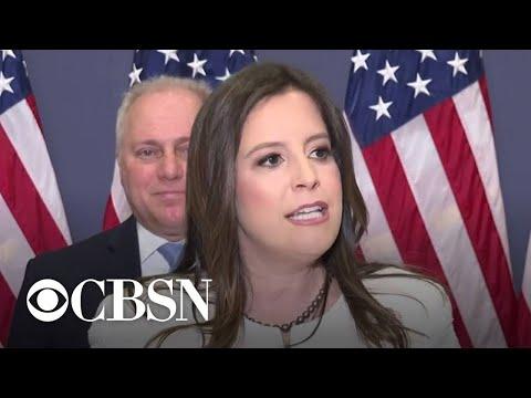 Elise Stefanik speaks after winning House GOP leadership role, replacing Liz Cheney